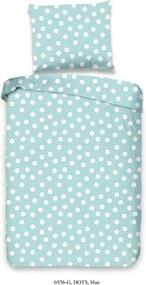 Detské modré obliečky z bavlny Good Morning Puntík, 120 x 150 cm