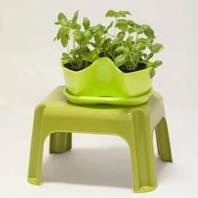 Kvetináč na bylinky Coubi 1 patro, zelená,