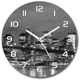 Sklenené hodiny okrúhle Manhattnu Nev York pl_zso_30_f_47820651