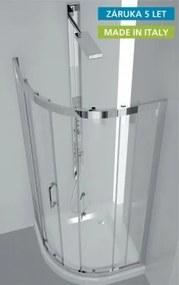 Sprchový kout HOPA FLORA - 86,5 – 90,5 × 86,5 – 90,5 × 190 cm, Hliník chrom, 6mm čiré (BLFL602CC)