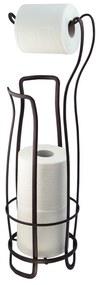 Bronzový oceľový stojan na toaletný papier so zásobníkom InterDesign, 62,5 cm