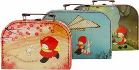 Santoro London - Sada 3 obdĺžnikových kufríkov - Poppi Loves 2