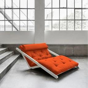 Leňoška Karup Figo, White/Orange, 120 cm