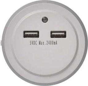Nočné svetlo do zásuvky so senzorom pohybu EMOS P3313 230, 3x LED, 2× USB