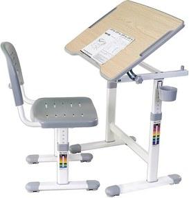 FD Rastúci písací stôl pre deti Pikolo II - rôzne farby Farba: Sivá