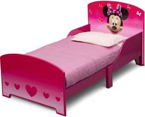 Delta Dievčenské drevená posteľ Myška Minnie