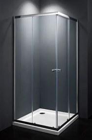 Sprchový kút štvorec 80x80x185 cm Multi Basic chróm lesklý SIKOMUQ80CRT