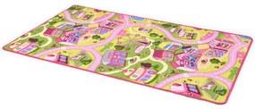 vidaXL Podložka na hranie, všívaná 190x200 cm, motív mestečka