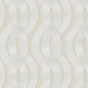 Luxusné vliesové tapety na stenu Colani Legend 59802, rozmer 10,05 m x 0,70 m, preplietané vlny biele na krémovom podklade, Marburg