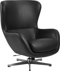 Dizajnové relaxačné kreslo Nyala, čierne