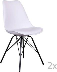 Sada 2 bielych stoličiek s čiernymi nohami House Nordic Oslo