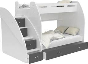 GL Multifunkčná poschodová posteľ Max 3 Farba: Sivá, Variant matrac: Bez matracov