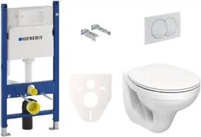 Závesný set WC Kolo + modul Geberit Duofix s tlačidlom Delta 20 biele KMPLSIKOGSV
