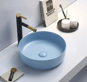 Umývadlo na dosku Swiss Aqua Technologies Infinitio 39x39 cm modrá mat bez otvoru pre batériu SATINF3939LBLM