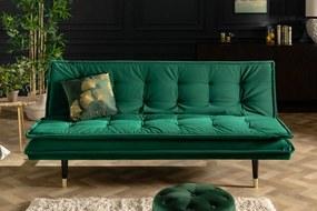 Bighome - Rozkladacia sedačka MAGNIFICENCE 184 cm - zelená