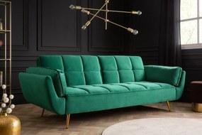 Rozkladacia sedačka Bailey 213 cm smaradgová zelená