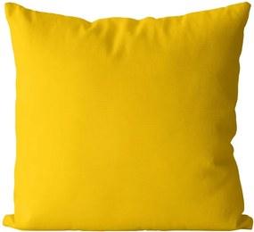 Vankúš Žltý sýty (Veľkosť: 40 x 40 cm)