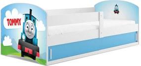 BMS Detská obrázková posteľ LUKI 1 / BIELA Obrázok: Tommy