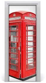 Fototapeta na dvere Telefónna búdka 85x205cm
