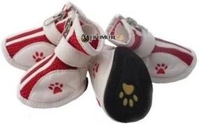 PETOP Priedušné červené topánky Harry pre psov L