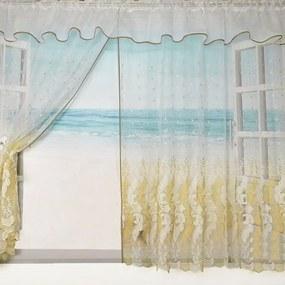 Záclona DAFNE - zlatá 400x150 cm
