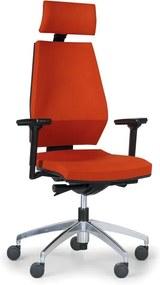 Antares Kancelárska stolička MOTION s opierkou hlavy, oranžová