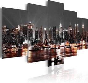 Obraz - Grey city 200x100