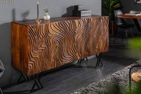 Dizajnová komoda Zion 160 cm hnedá - mango