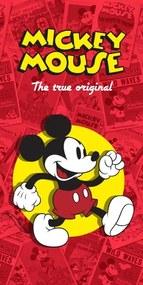 EUROSWAN Osuška Mickey klasik červená Bavlna Froté 75/150 cm