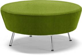 Okrúhly taburet Alex, Ø 900 mm, tkanina Medley, limetková zelená