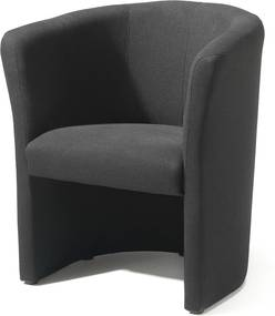 Kreslo Click, čierna textília