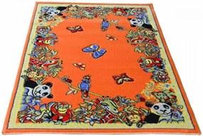 Detský koberec Zoo oranžový, Velikosti 133x190cm