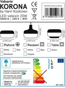 Valoarte KO303005 Závěsná lampa, žltá