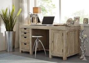 Masiv24 - WHITE WOOD Písací stôl 150x75 cm, akácia