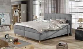 Kvalitná box spring posteľ Erika 180x200 s výberom poťahu! WSL: Potah Žinilka Soro 21 krémová