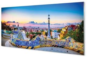 Nástenný panel Španielsko Panoráma mesta 125x50cm