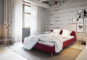 Expedo Čalúnená posteľ LIFE, 200x200, itaka 34 + rošt + penový matrac 14cm