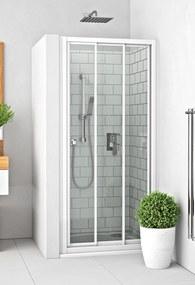 ROLTECHNIK Sprchové dvere posuvné PD3N/800 biela/rugiada 413-8000000-04-16
