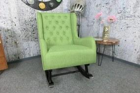 (3082) LILLY elegantné hojdacie kreslo zelené