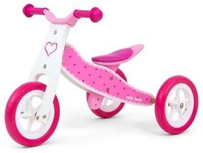 MILLY MALLY Nezaradené Detské multifunkčné odrážadlo 2v1 Milly Mally Look Hearts Ružová |