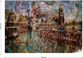 Fototapeta GLIX - Holy India + lepidlo ZADARMO Vliesová tapeta  - 104x70 cm