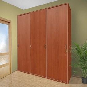Šatníková skriňa s posuvnými dverami Alfa 28 farba lamina: čerešňa talianská (třešeň italská)