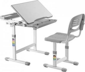 FD Rastúci písací stôl a stolička Kantare Farba: Sivá