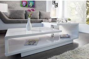 Konferenčný stôl 37430 100x50cm Biely vysoký lesk-Komfort-nábytok