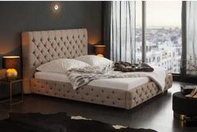 Posteľ s roštami 39431 180x200cm Prírodno šedá-Komfort-nábytok