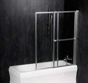 POLYSAN - OLBIA pneumatická vanová zástěna 1230 mm, stříbrný rám, čiré sklo (30317