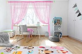 Detská záclona Baby Ball - pink 250x240 cm