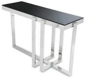 DekorStyle Konzolový stôl SEMINÁR SILVER BLACK