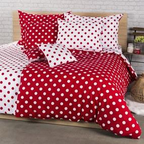 4Home bavlnené obliečky Bodka, červená, 220 x 200 cm, 2 ks 70 x 90 cm