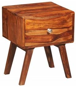 vidaXL Nočný stolík s 1 zásuvkou 55 cm, drevený masív sheesham